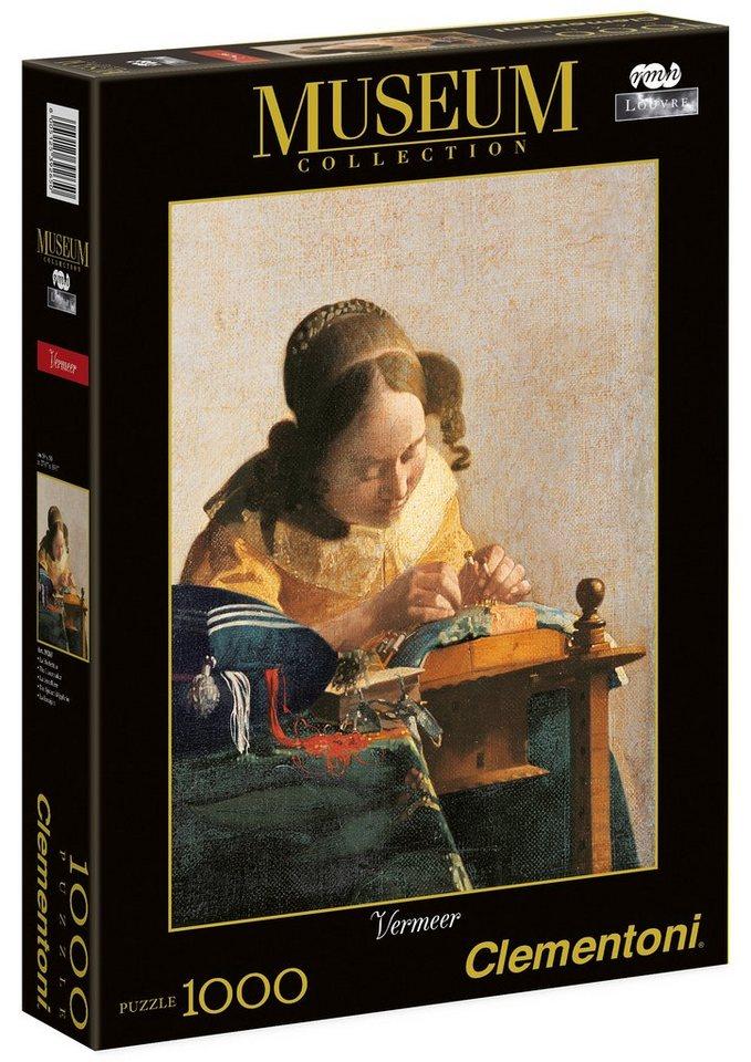 Clementoni Puzzle, 1000 Teile, »Vermeer - Die Spitzenklöppelerin«