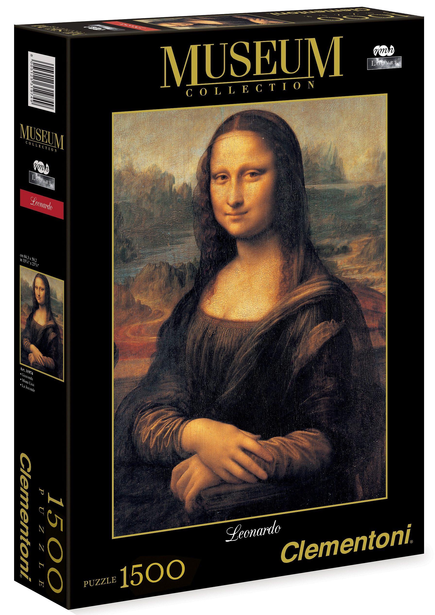Clementoni Puzzle, 1500 Teile, »Leonardo - Mona Lisa«