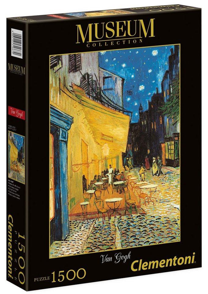 Clementoni Puzzle, 1500 Teile, »Van Gogh, Caféterrasse bei Nacht«