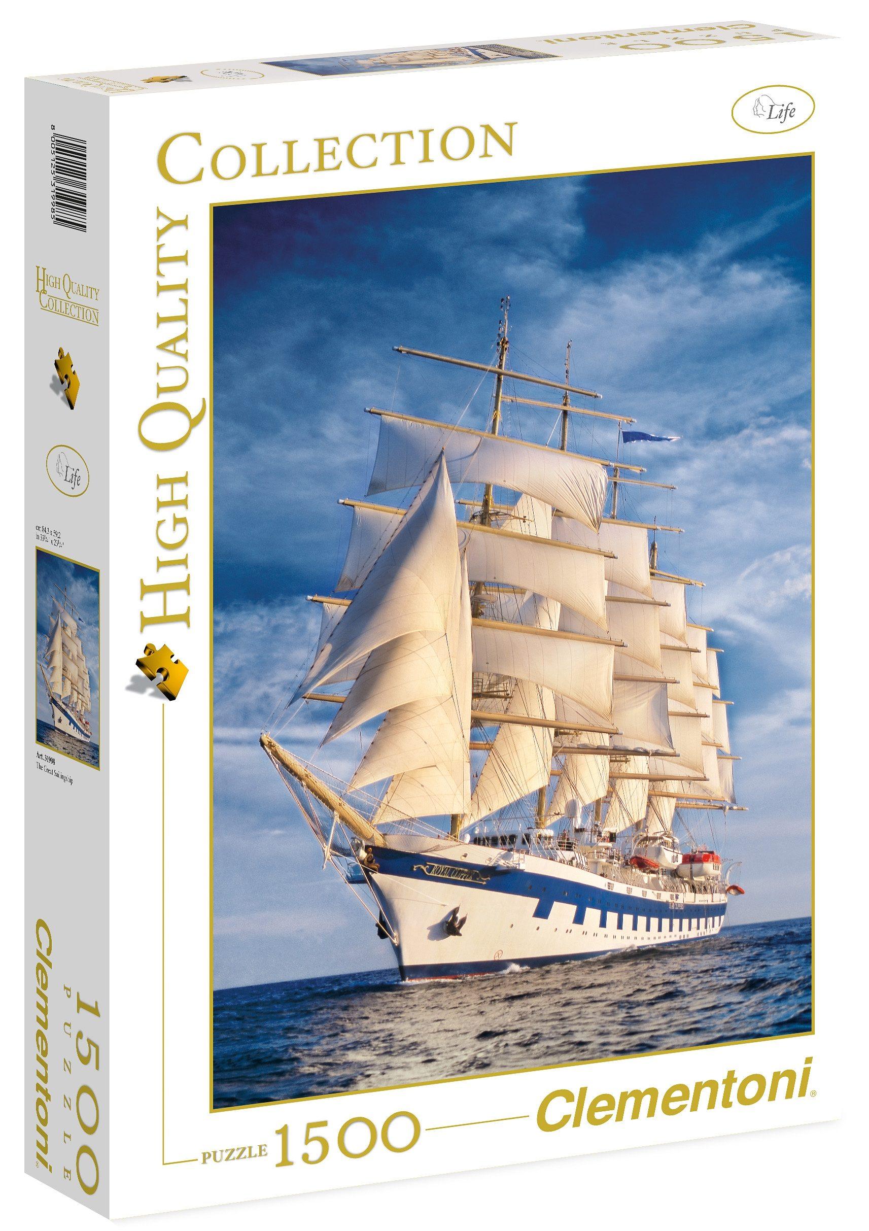 Clementoni Puzzle, 1500 Teile, »Das große Segelschiff«