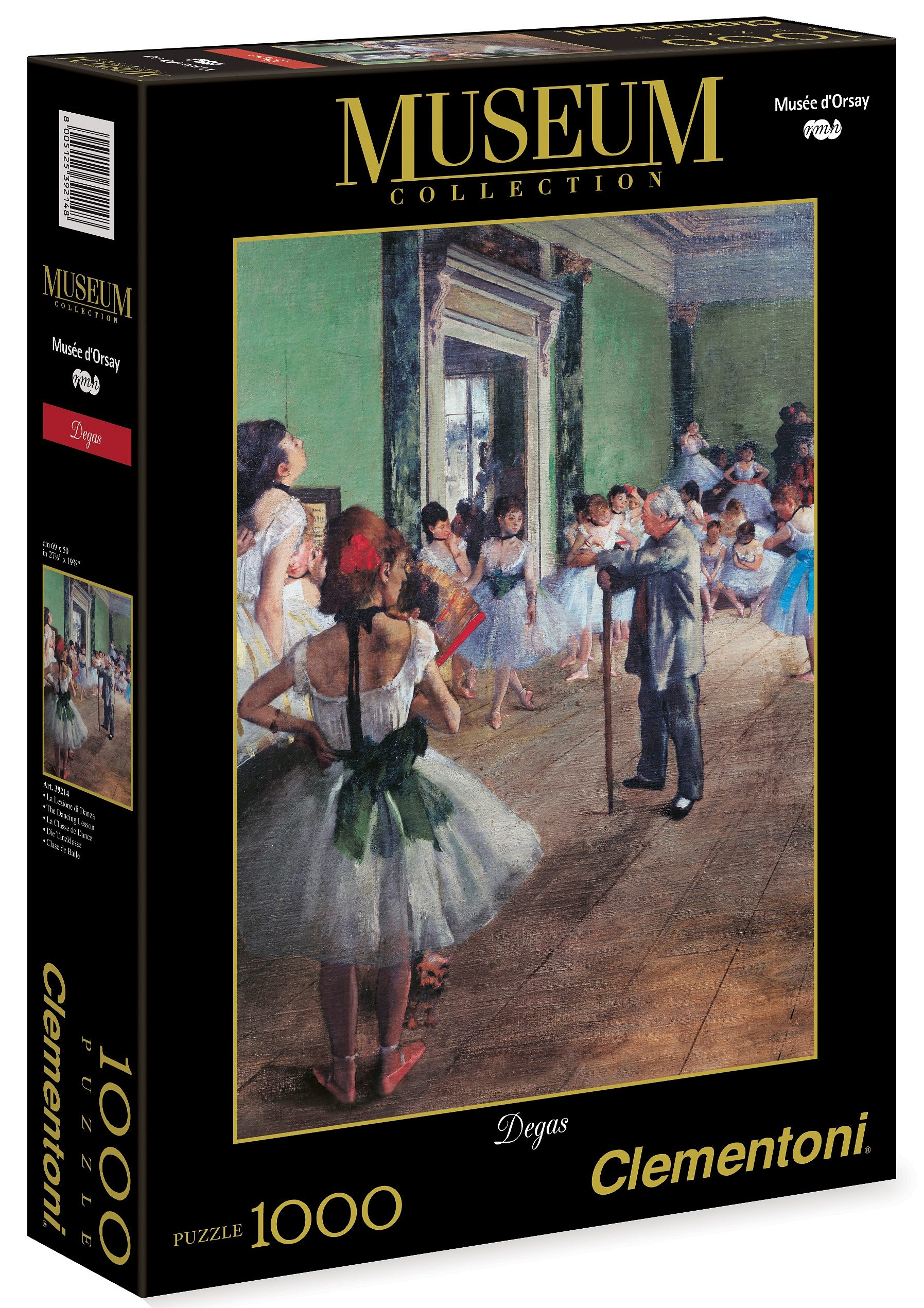 Clementoni Puzzle, 1000 Teile, »Degas - Der Tanzunterricht«