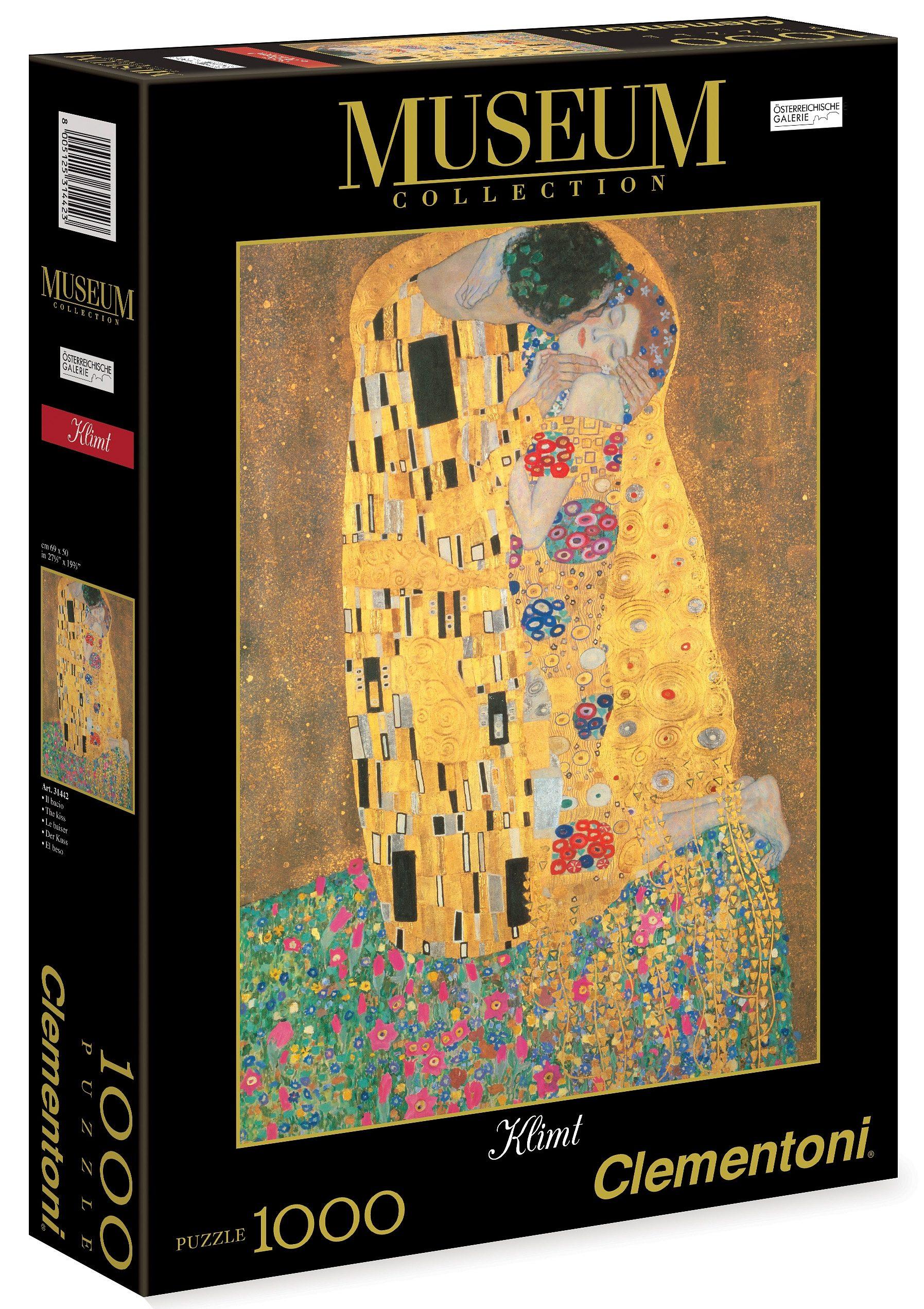 Clementoni Puzzle, 1000 Teile, »Klimt, Der Kuss«