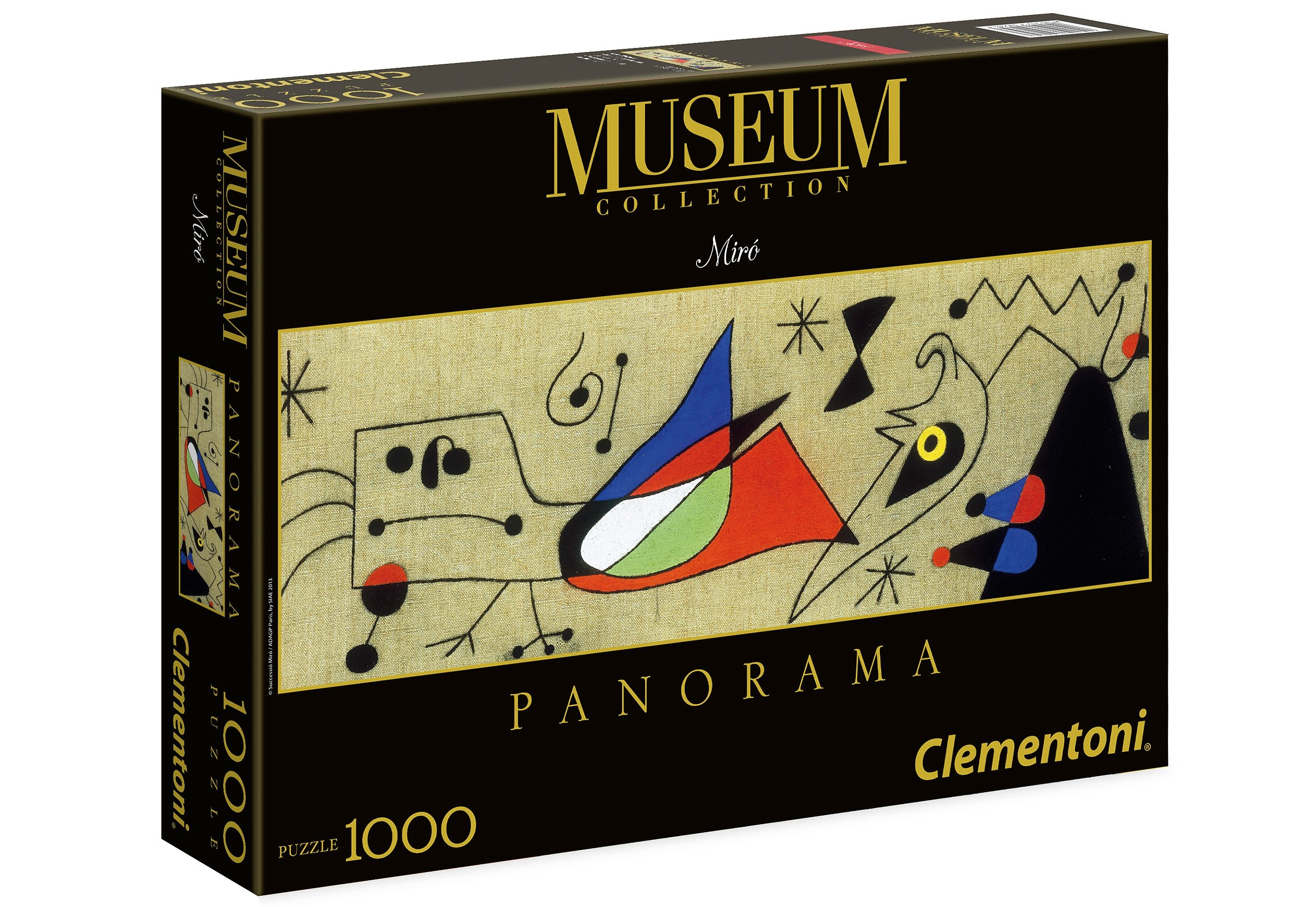 Clementoni Puzzle, 1000 Teile, »Mirò - Frau und Vogel«