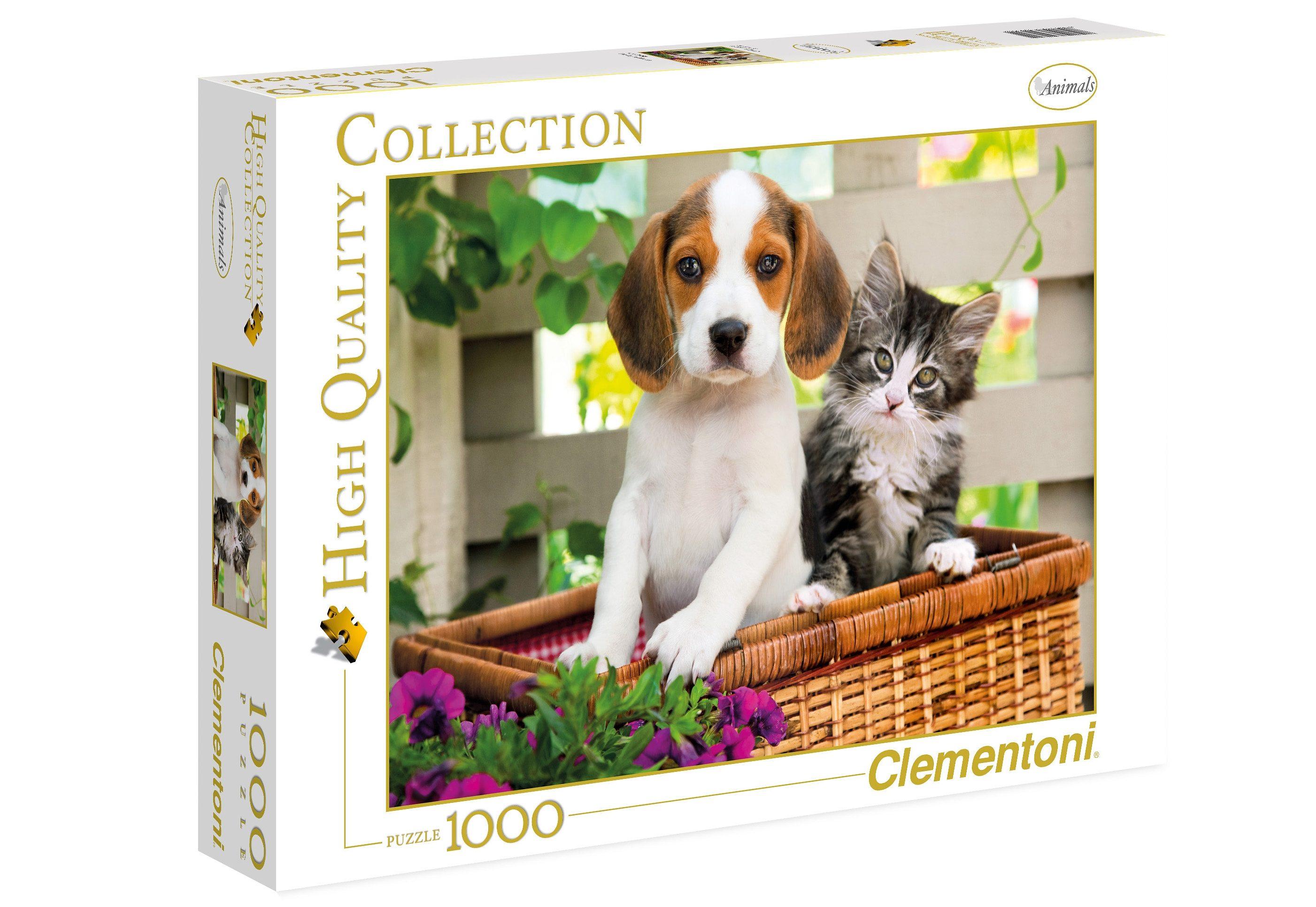 Clementoni Puzzle, 1000 Teile, »Der Hund und die Katze«
