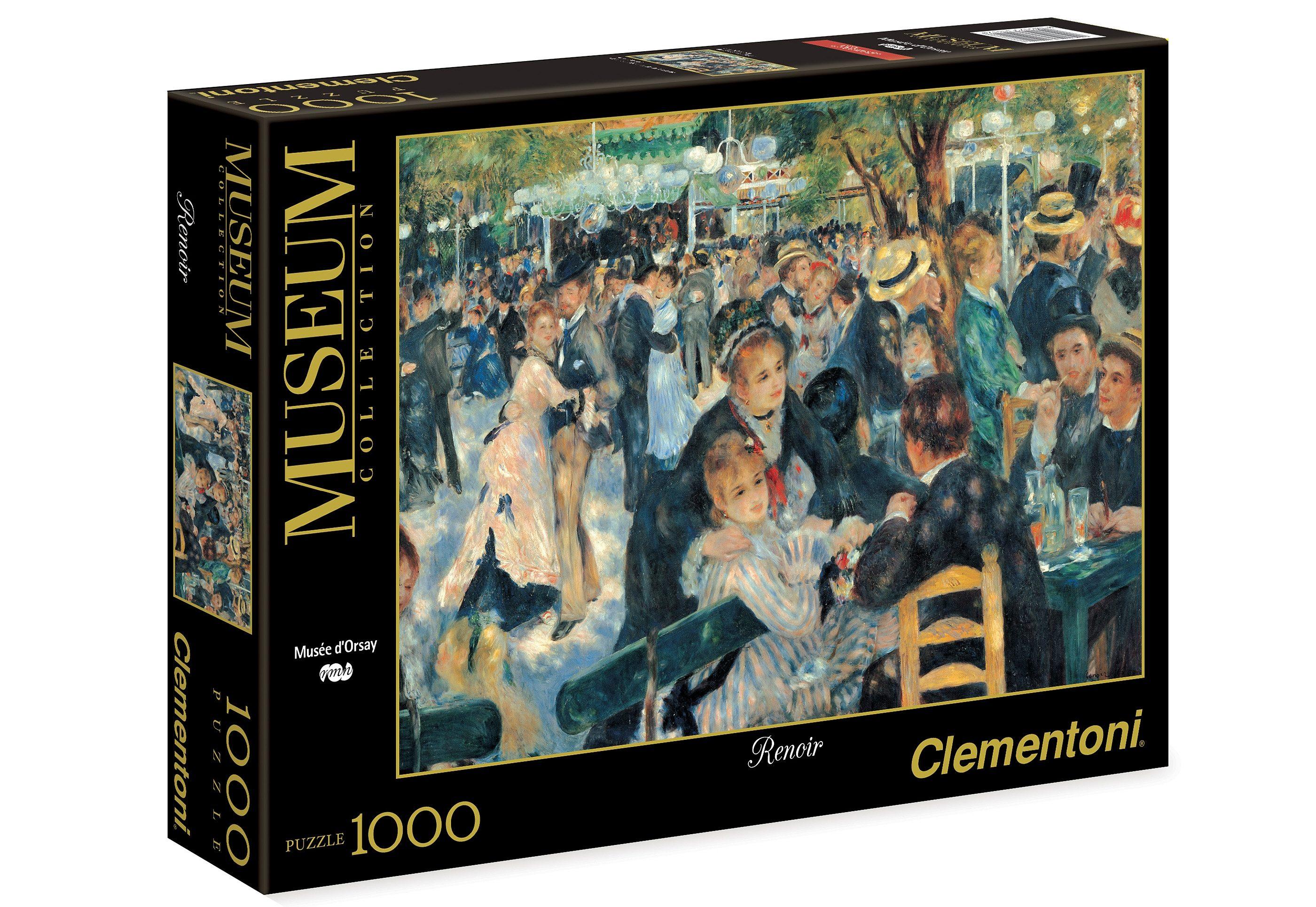 Clementoni Puzzle, 1000 Teile, »Renoir, Musee D'Orsay, Tanz im Moulin de la Galette«