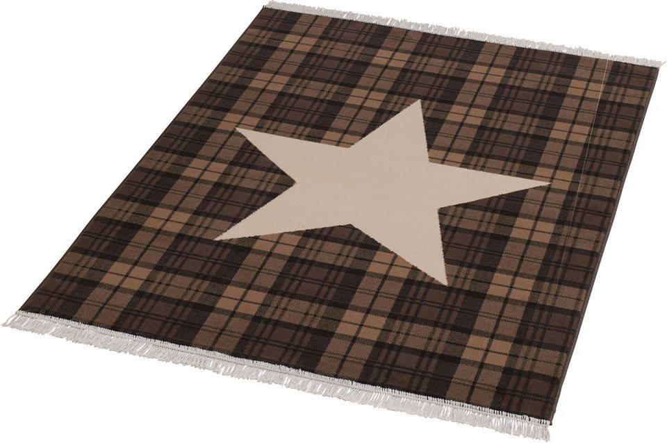 Teppich »Sterne«, Hanse Home, rechteckig, Höhe 9 mm in braun