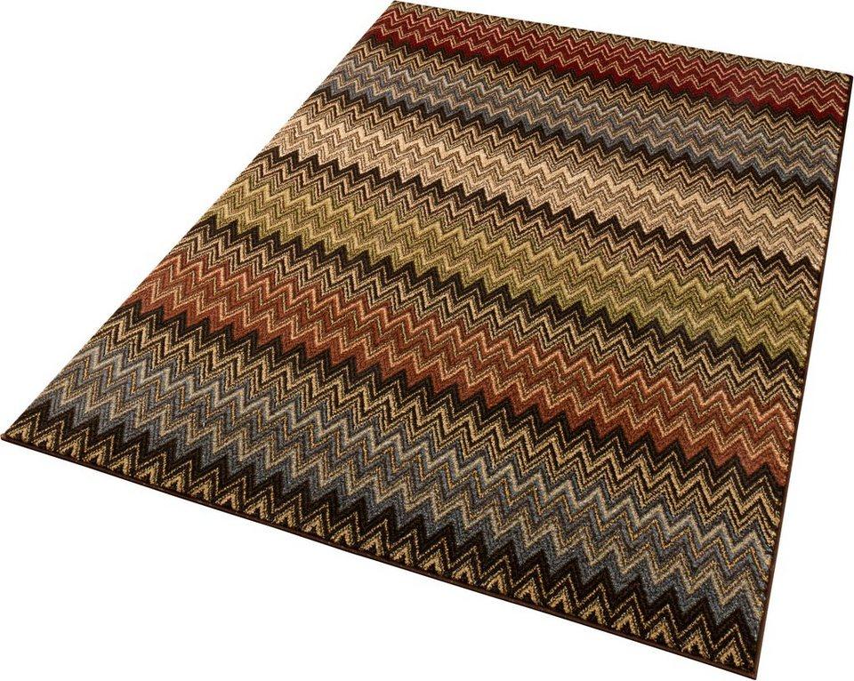 teppich mission sch ngeist petersen rechteckig h he 11 mm zick zack optik online kaufen. Black Bedroom Furniture Sets. Home Design Ideas