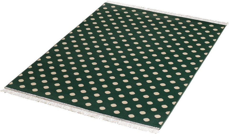 Teppich »Polkadot«, Hanse Home, rechteckig, Höhe 9 mm in grün-natur