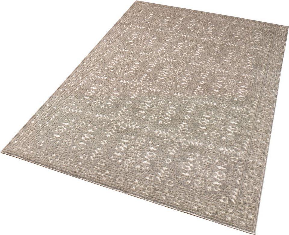 Teppich »Noblesse«, Schöngeist & Petersen, Ornament, gewebt, Hoch-Tief-Effekt in Taupe Creme