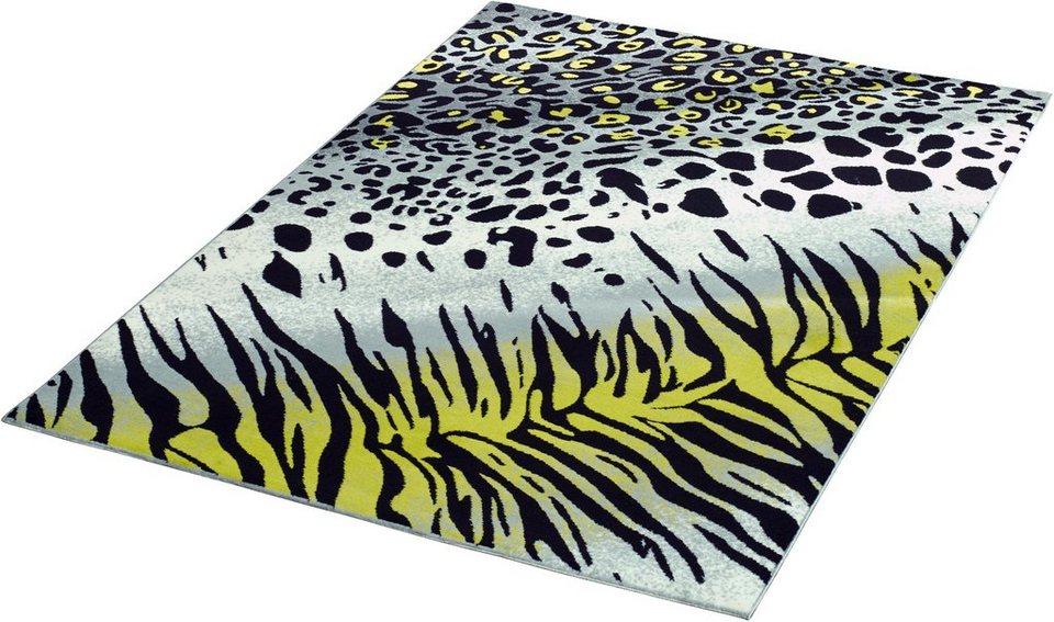 Teppich »Safari Mix«, Hanse Home, gewebt in Schwarz Weiß