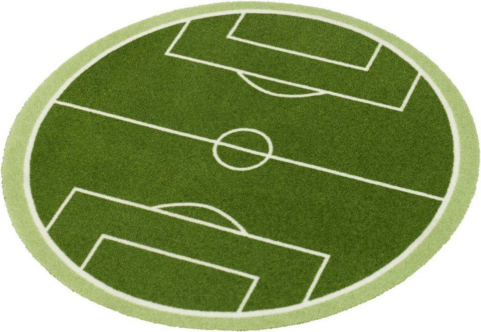 Teppich rund grün  Teppich, rund, Zala Living, »Fußballfeld«, getuftet online kaufen ...