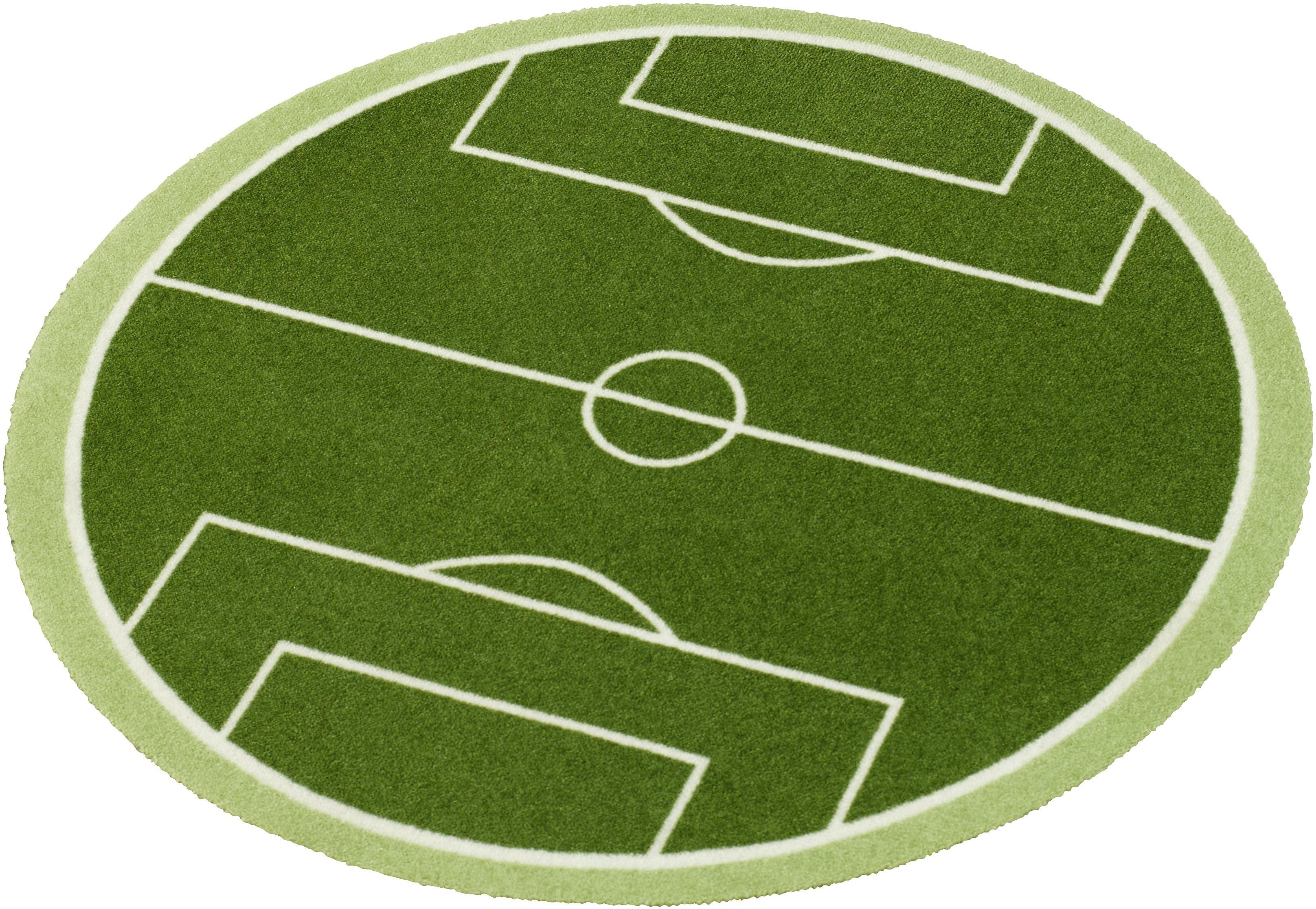 Teppich »Fußballfeld«, Zala Living, rund, Höhe 7 mm