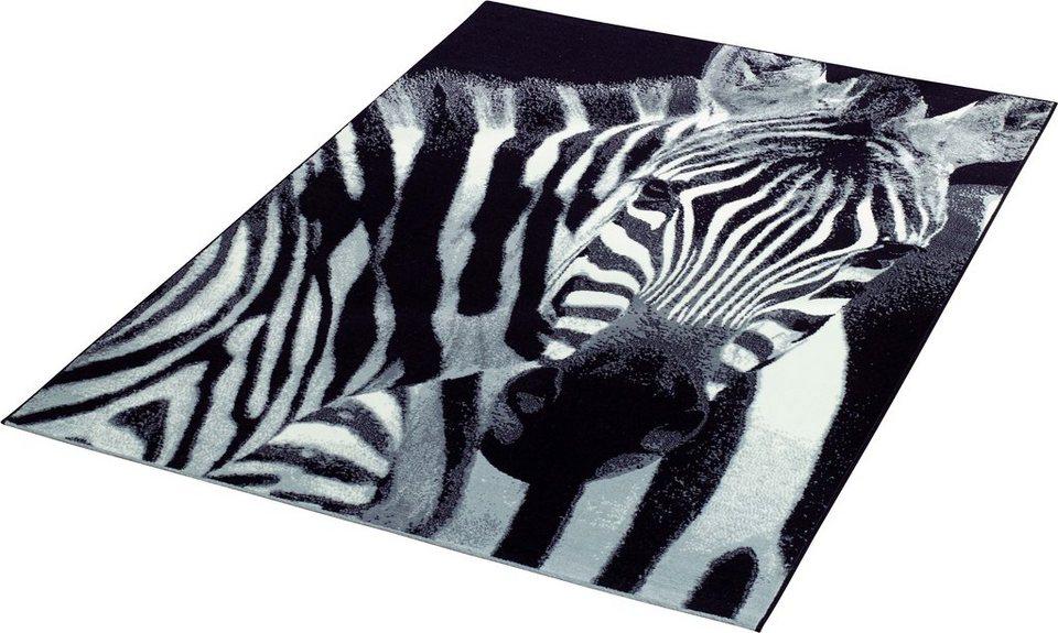 Teppich »Zebra«, Hanse Home, rechteckig, Höhe 9 mm in schwarz-weiß