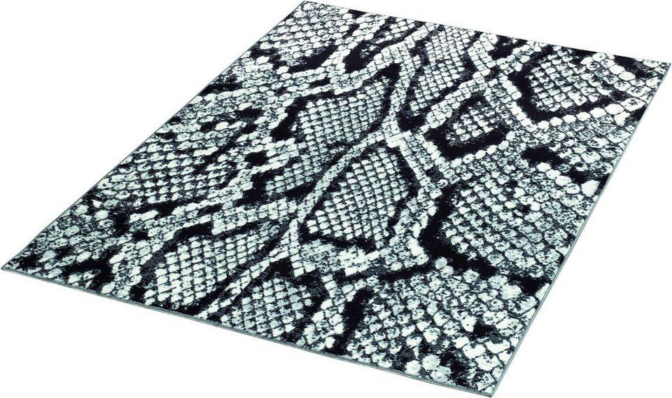Teppich »Schlange«, Hanse Home, gewebt in Schwarz Weiß