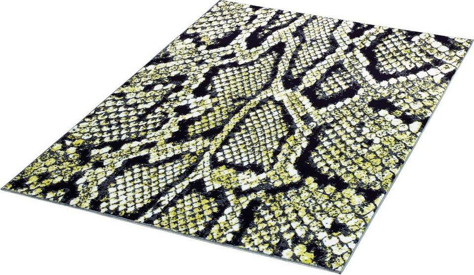Teppich »Schlange«, Hanse Home, gewebt in Schwarz Weiß Grün