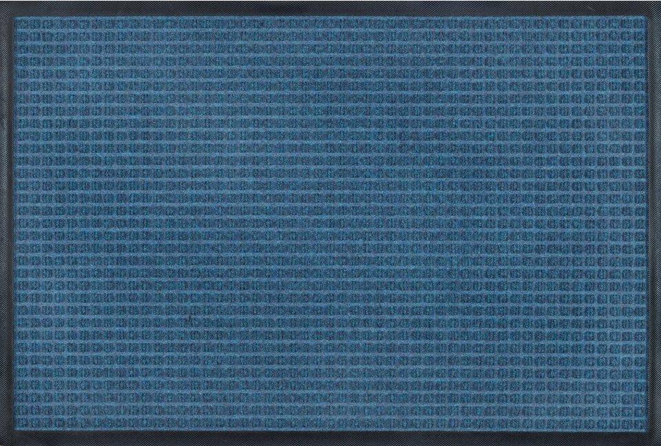 Fußmatte, Kleen-Tex, »Water-Horse«, In- und Outdoor, rutschhemmend beschichtet in blau