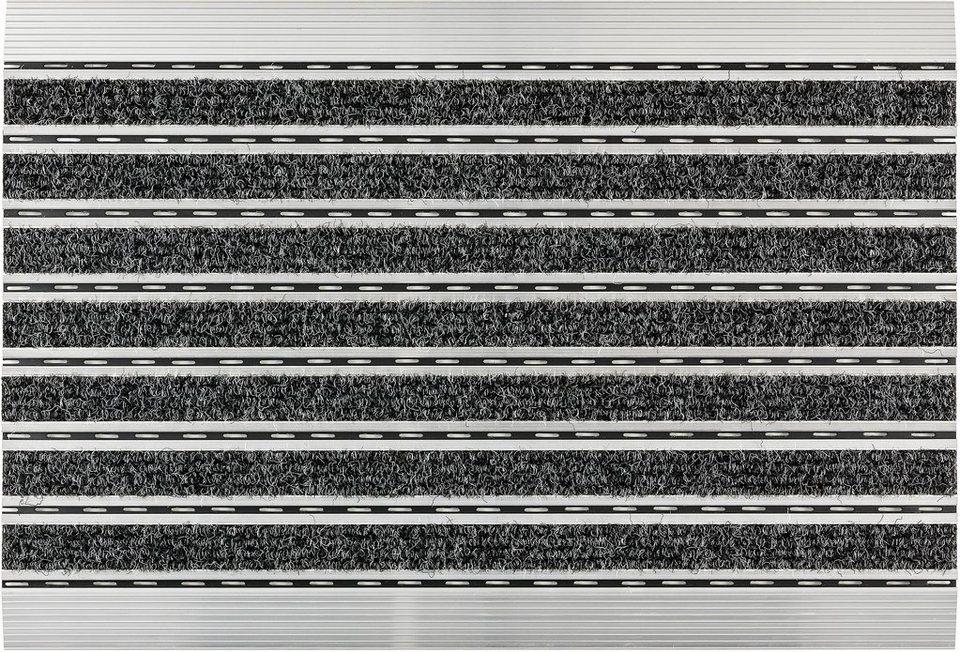 Fußmatte, Astra, »Rips«, mit Aluminiumrahmen in anthrazit