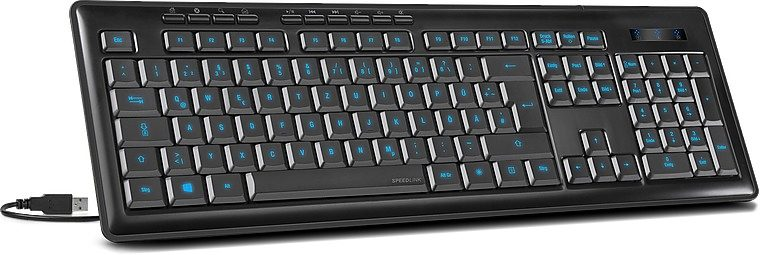 SPEEDLINK Tastatur »VENDOM Illuminated Scissor Keyboard, schwarz«