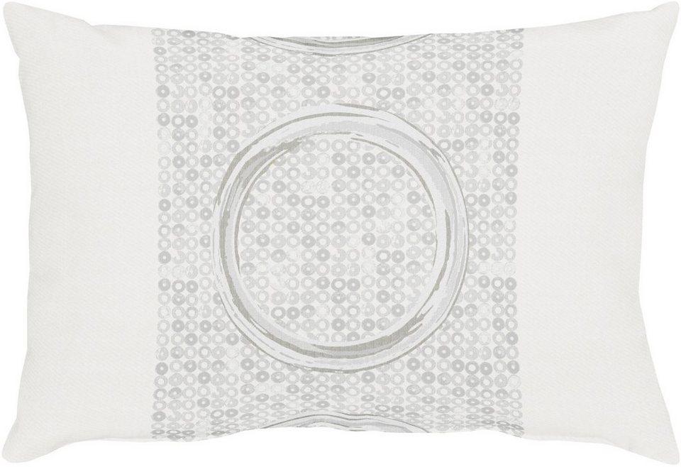 Kissen, Apelt, »7904 Kreise« (1 Stück) in weiß/silber