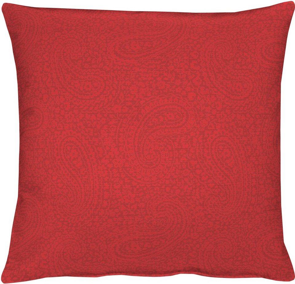 Kissenhüllen, Apelt, »7907 Uni Paisley« (1 Stück) in rot