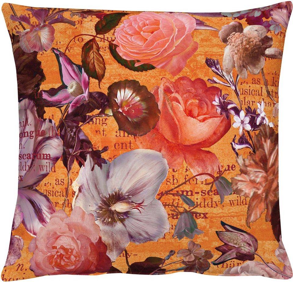Kissen, Apelt, »7912 Floral« (1 Stück) in orange