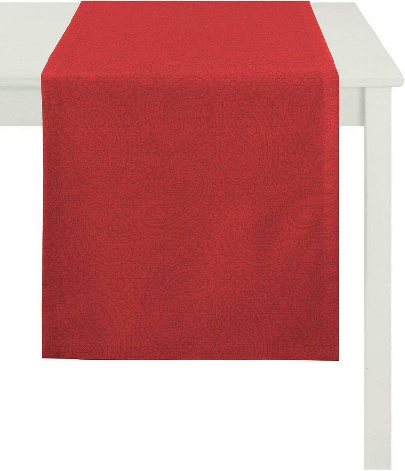 Tischläufer, Apelt, »7907 Uni Paisley« in rot