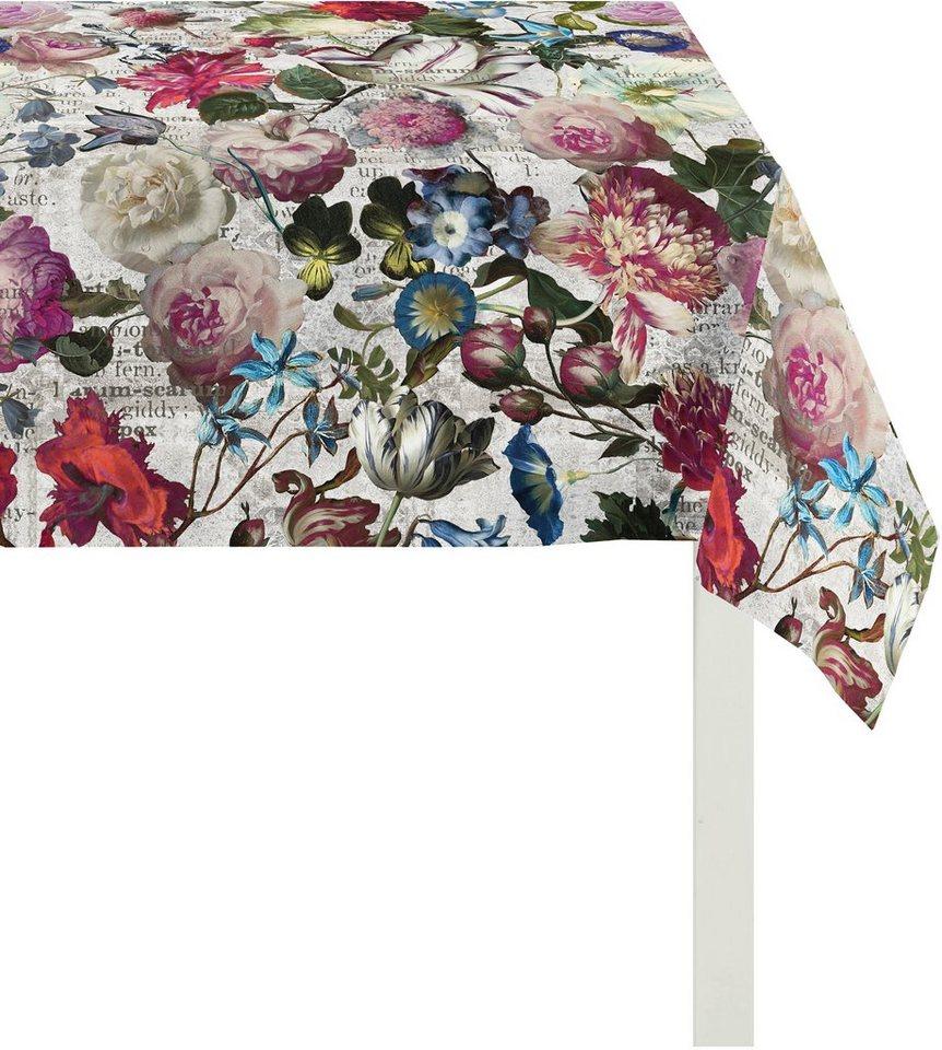 Tischdecke, Apelt, »7912 Floral« in weiß-bunt