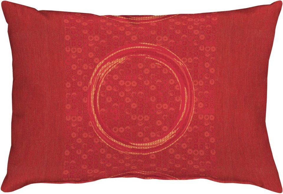 Kissen, Apelt, »7904 Kreise« (1 Stück) in rot