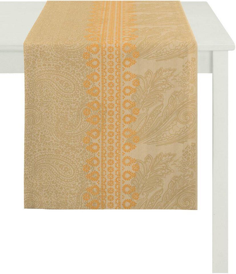 Tischläufer, Apelt, »7908 Paisley« in beige orange