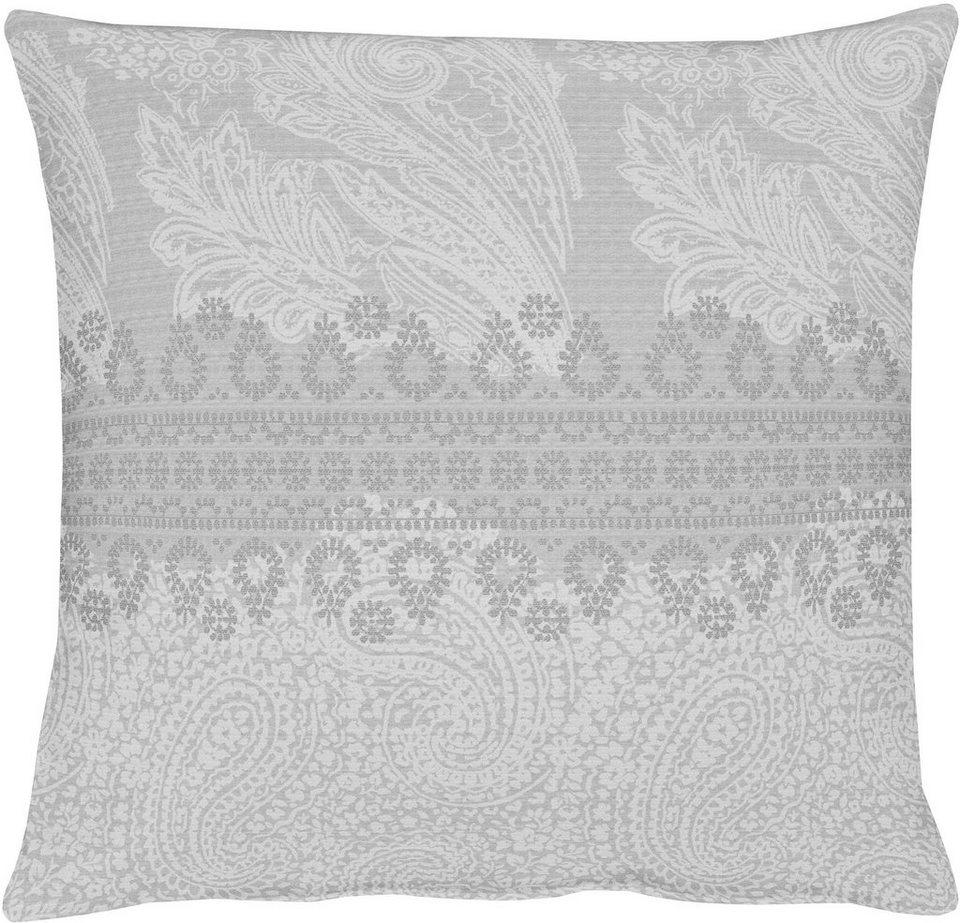 Kissenhüllen, Apelt, »7908 Paisley« (1 Stück) in grau weiß