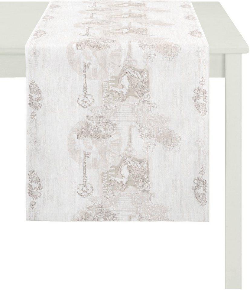 Tischläufer, Apelt, »7910 Klassik« in weiß grau