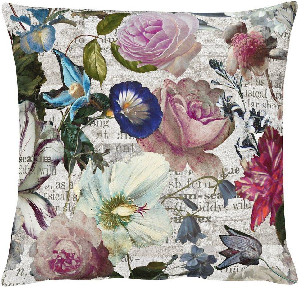 Kissenhüllen, Apelt, »7912 Floral« (1 Stück) in weiß