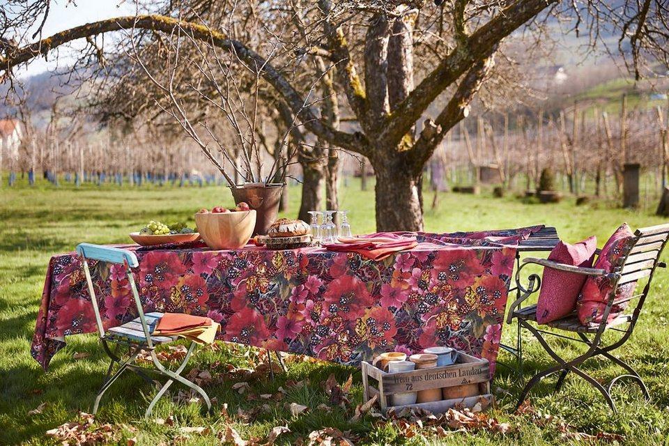 Tischdecke, Apelt, »7917 Floral Beeren« in beere