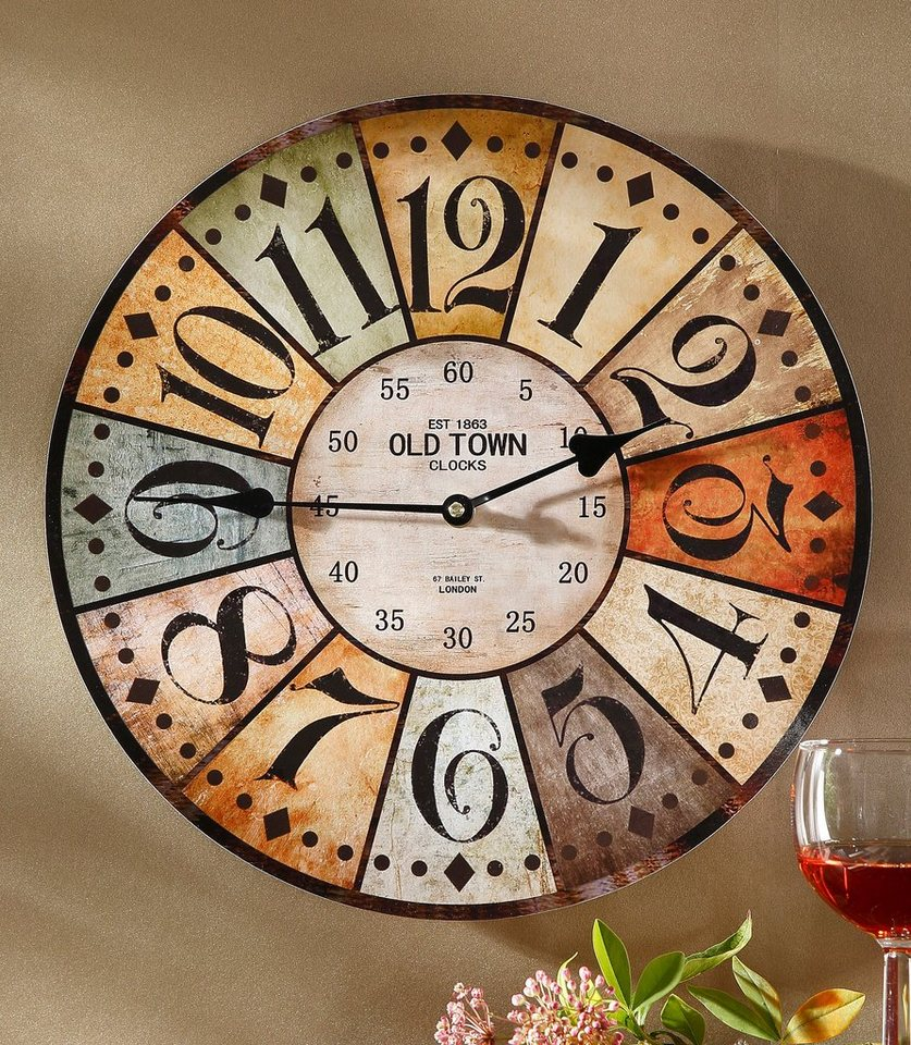 Home affaire Wanduhr »Old Town Arabic« in natur