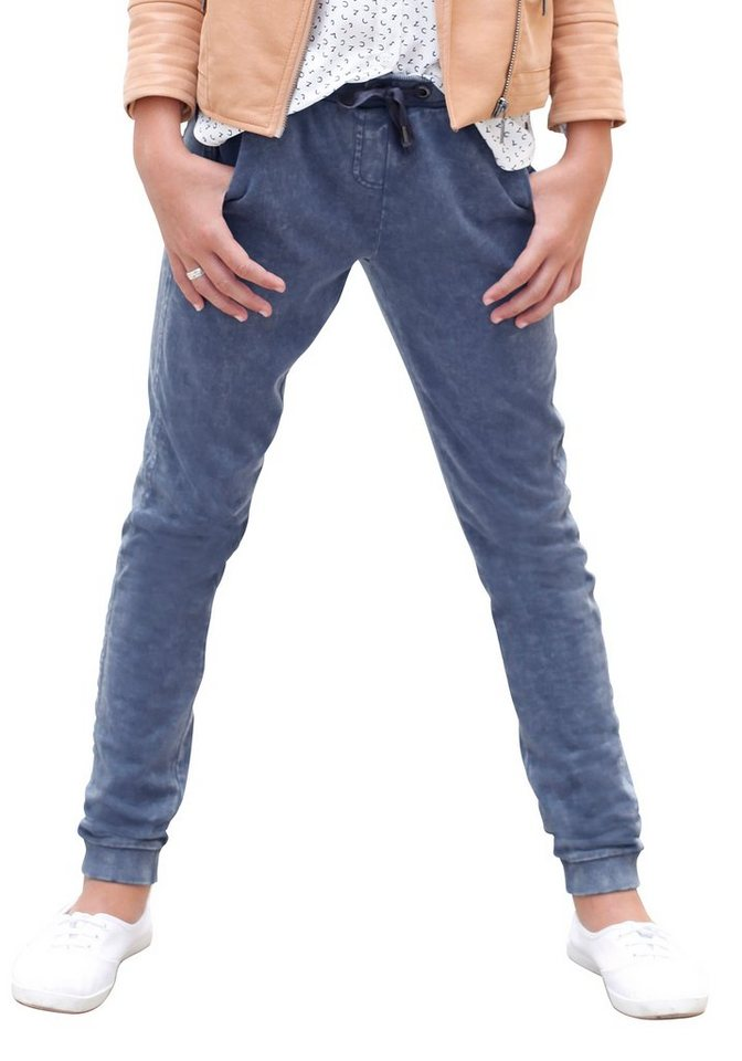 s.Oliver RED LABEL Junior Jogginghose im Vintage Look in blau