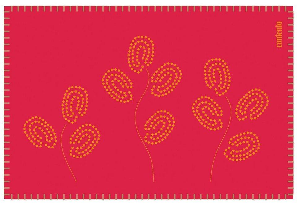contento Filz-Tischset, »Filina« (6 Stück) in Rot