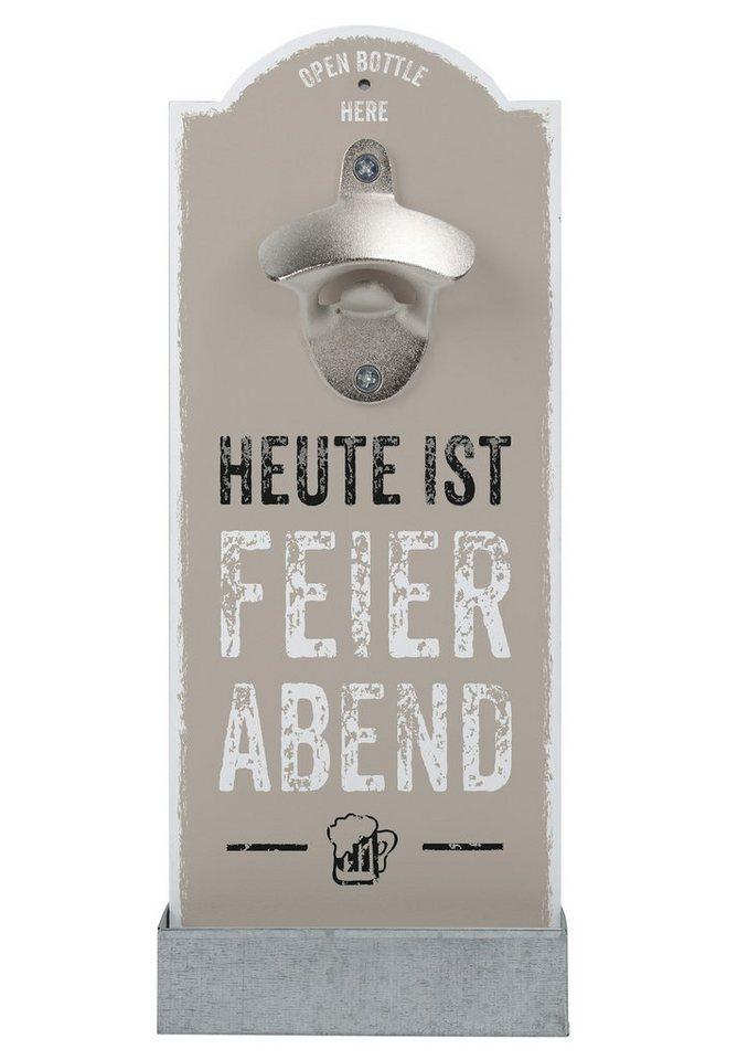 contento Wand-Flaschenöffner, »Feierabend« in natur, silber