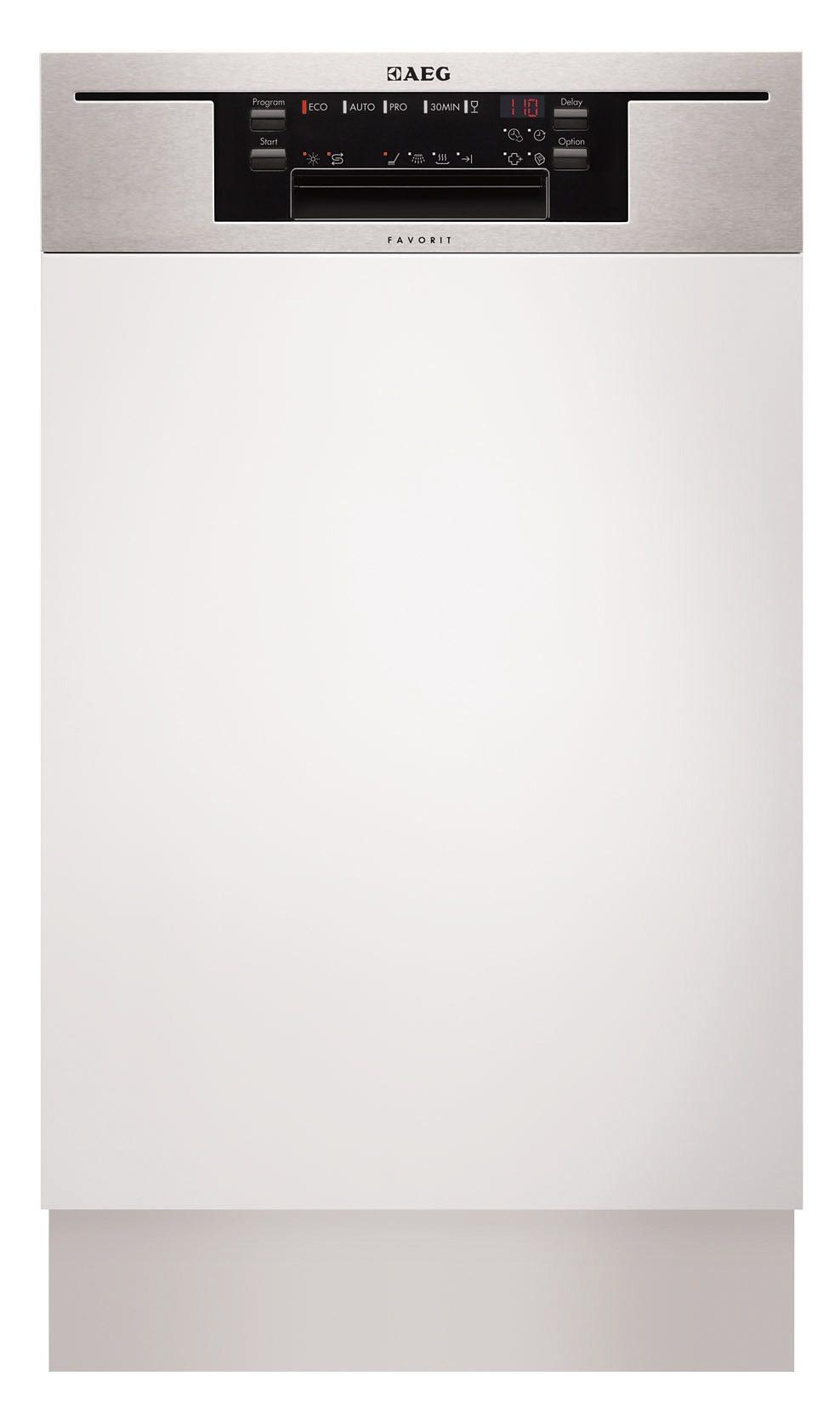 AEG integrierbarer Einbau-Geschirrspüler FAVORIT / F65412IMOP, A++, 9,9 Liter, 9 Maßgedecke