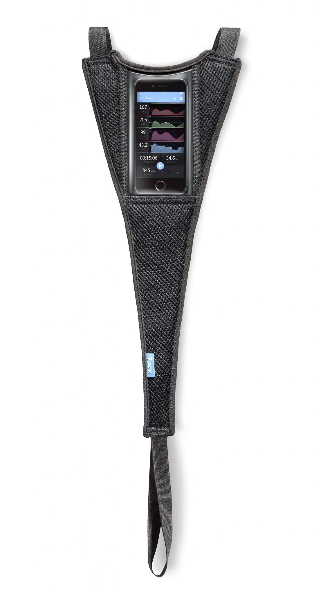 Tacx Vorderradstütze »Schweißfänger für Smartphones«