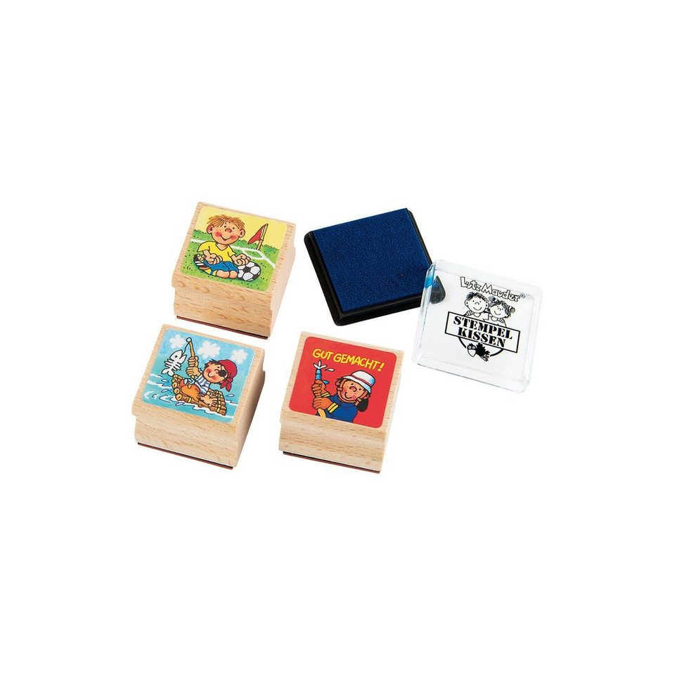 Lutz Mauder Verlag Verlag Mauder Stempelset Jungen, 4-tlg. b124c8