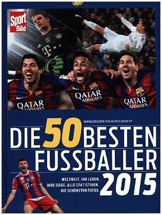 Gebundenes Buch »Die 50 besten Fußballer 2015«