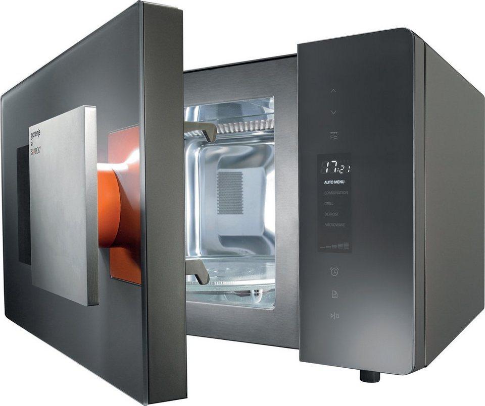 Gorenje by Starck® Design-Mikrowelle MO23ST, mit Grill, 23 Liter Garraum, 1200 Watt in silbergrau