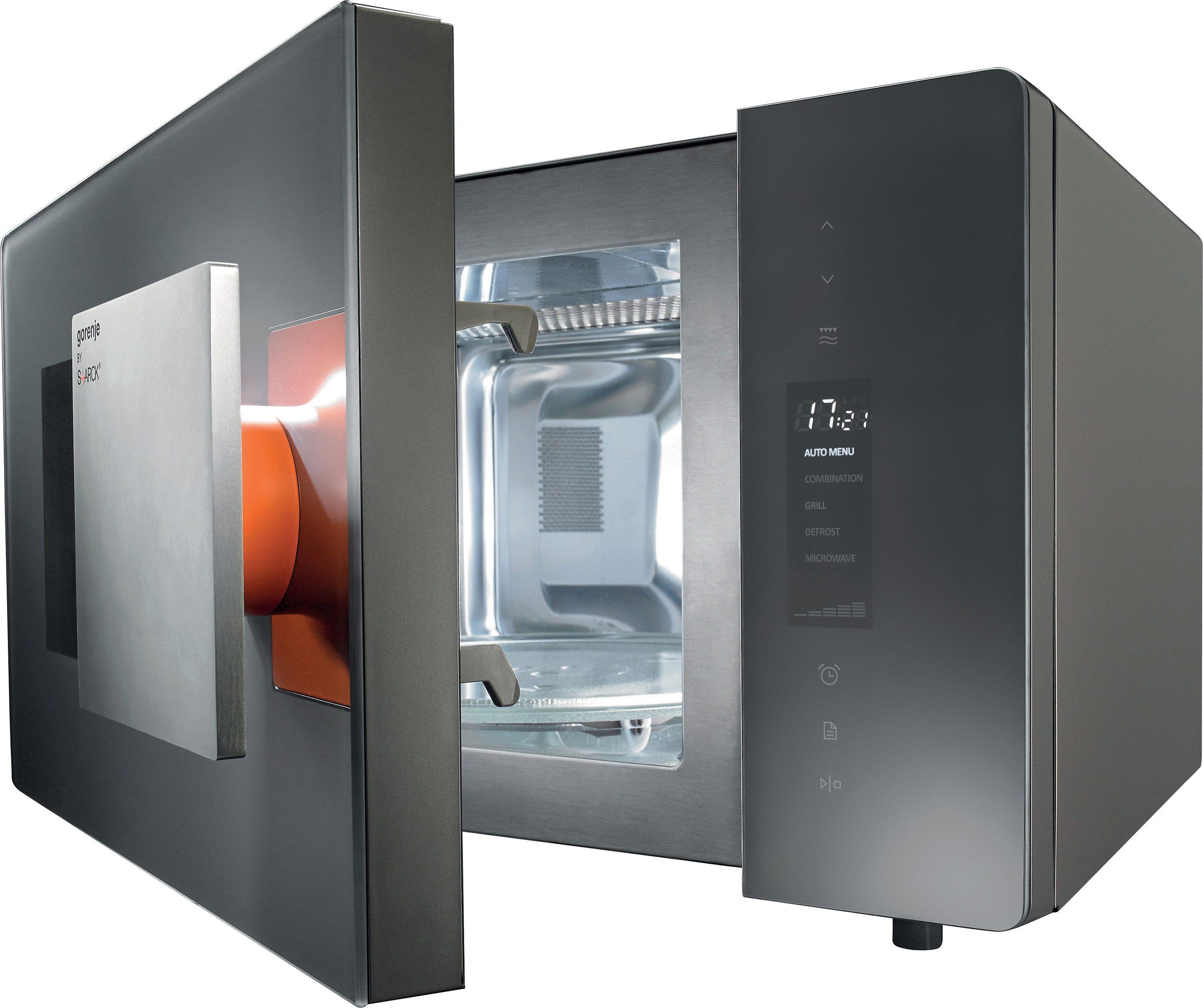 Gorenje by Starck® Design-Mikrowelle MO23ST, mit Grill, 23 Liter Garraum, 900 Watt