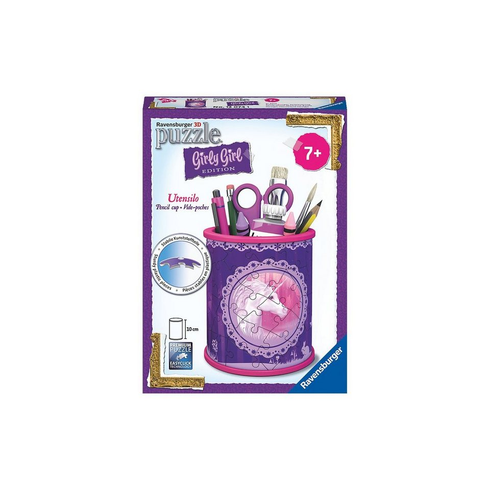 Ravensburger Girly Girl Edition Utensilo/Stiftebox Einhörner