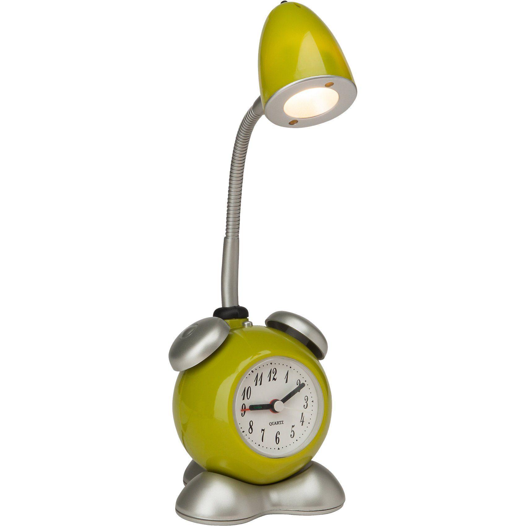 LED Tischlampe Pharrell mit Uhr, grün