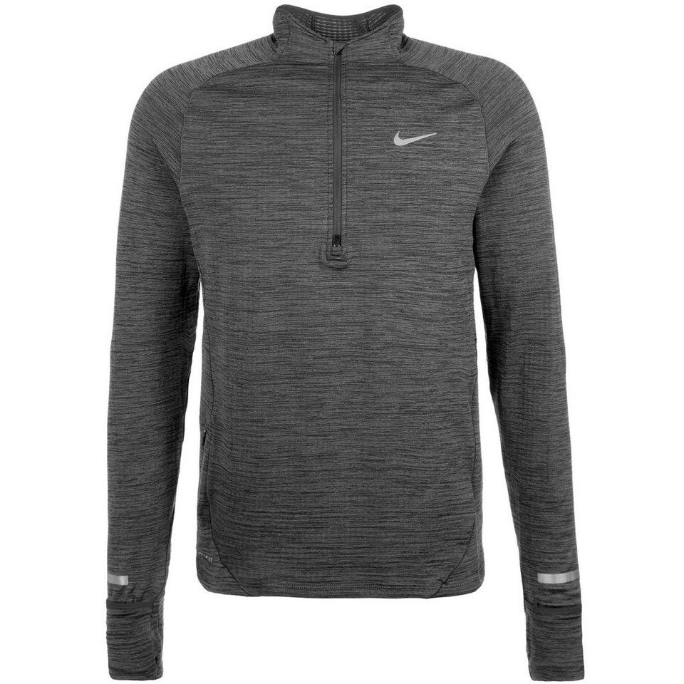 NIKE Element Sphere Half-Zip Laufshirt Herren in anthrazit / silber