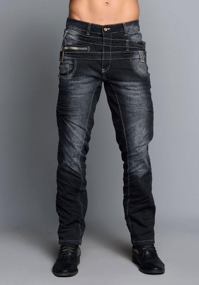 Cipo & Baxx Stylische Jeans in Anthracite Grey