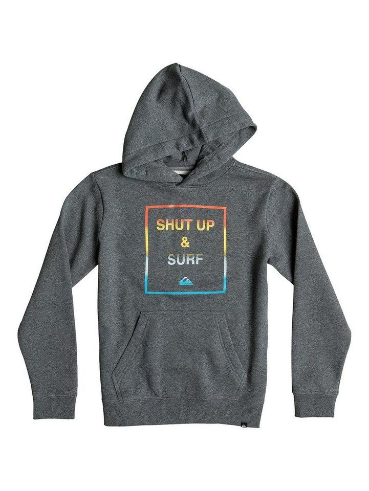 Quiksilver Hoodie »Shut Up And Surf« in Medium grey heather