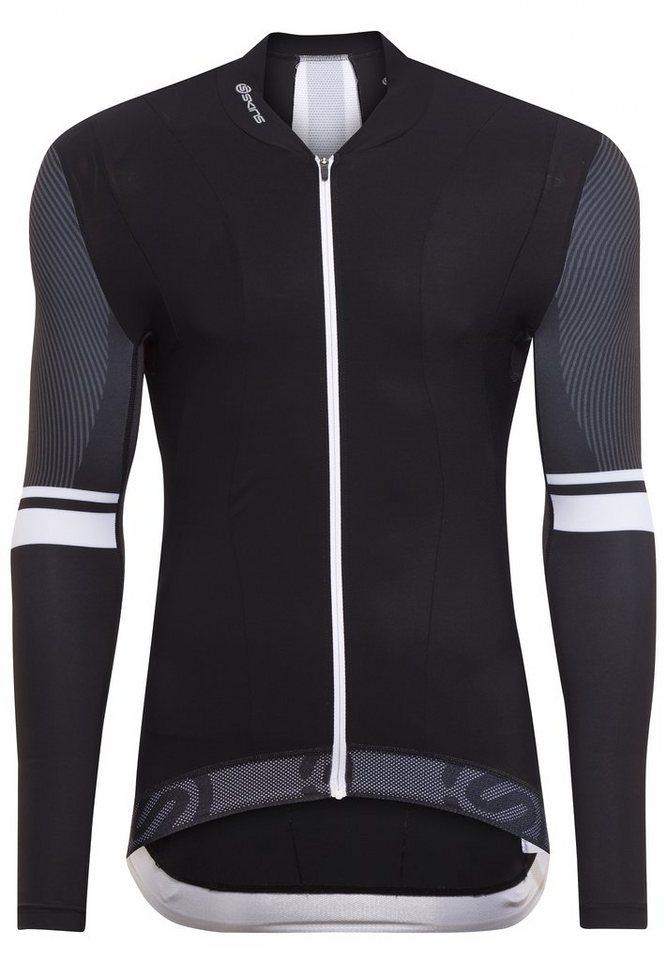 Skins Radtrikot »Cycle Tremola Long Sleeve Jersey Men black/white« in schwarz