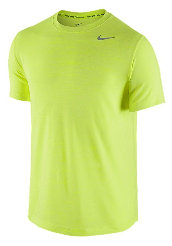 Nike Funktions-T-Shirt in Gelb